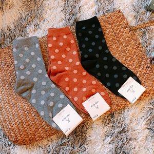 Cozy Polka Dot Socks Set of 3